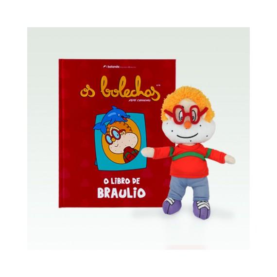 Libro + peluche de Braulio (G) - Os Bolechas