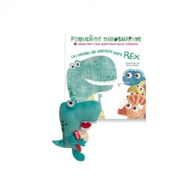Muñeco Rex + cepillo de dientes para Rex. Vicens Vives.