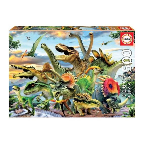 Puzzle 500 piezas DINOSAURIOS. Educa.