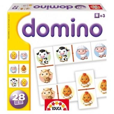 Juego Dominó Animales Domésticos / Xogo Dominó Animais Domésticos. Educa Borrás.