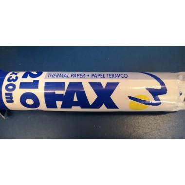 Rollo Papel Térmico FAX 30 mts. x 210 m/m .