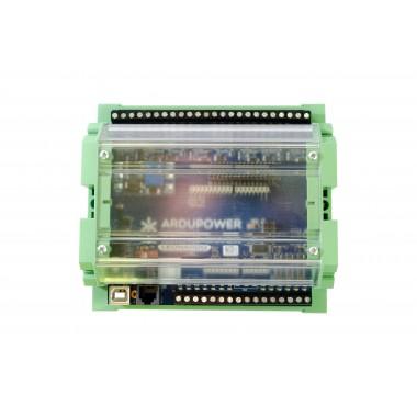 Ardupower Controller Mod. Leonardo con caixa para RAIL DIN