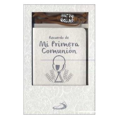Estuche Primera Comunión (libro oraciones + pulsera). San Pablo.