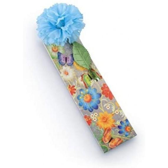 Marcapáginas Flowermark Azul