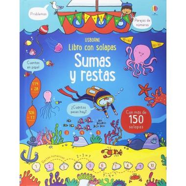 Sumas y Restas ( libro con más de 150 solapas ). Usborne.