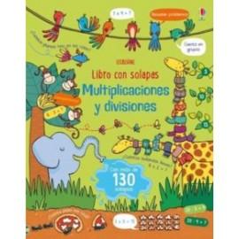 Multiplicaciones y Divisiones ( libro con más de 130 solapas ). Usborne.