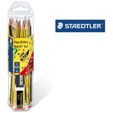 Set lápices 2HB +goma+afilador NORIS STAEDTLER.