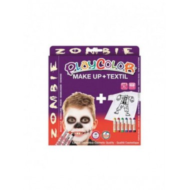 Maquillaje PLAYCOLOR TEMATICS ZOMBIE make up + textil.