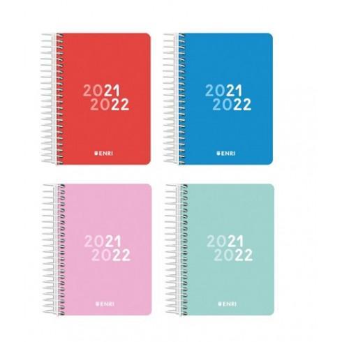 Agenda Escolar azul 2021/2022 ENRI 8º D/P tapa plástico.