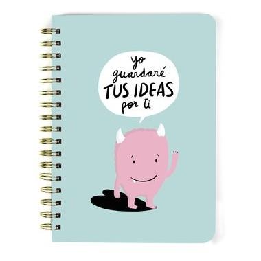 Libreta A5 Yo guardaré TUS IDEAS por ti. TANTANFAN.