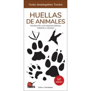 Huellas de Animales. Guías desplegables Tundra.