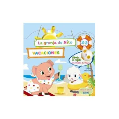 Cuaderno vacaciones La granja de Nito 2 - 3 años. Algaida.