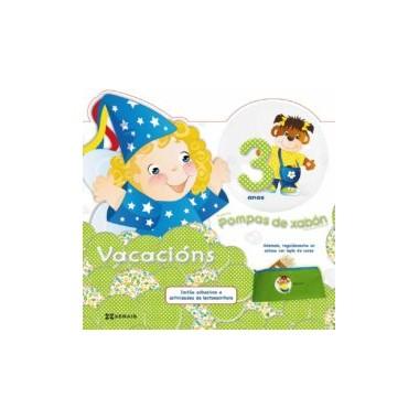 Caderno de vacacións Pompas de Xabón 3 anos. Xerais (G)