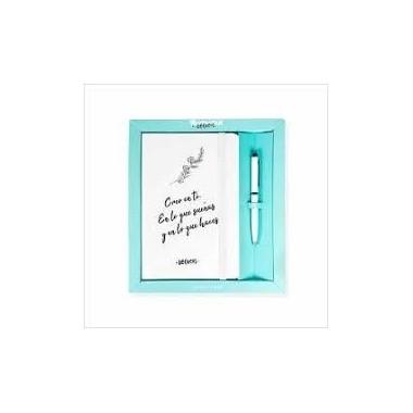"""Pack cuaderno + bolígrafo DEFREDS """"Creo en Ti"""". Tantanfan."""