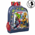 Mochila adpt. carro Avengers Heroes VS Thanos 32*42*14 cms.