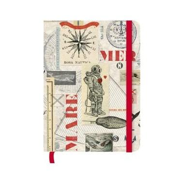 Caderno de notas 16x22cm greenjournal macrina con gomas - Cuaderno de notas 16x22cm greenjournal macrina busato con goma