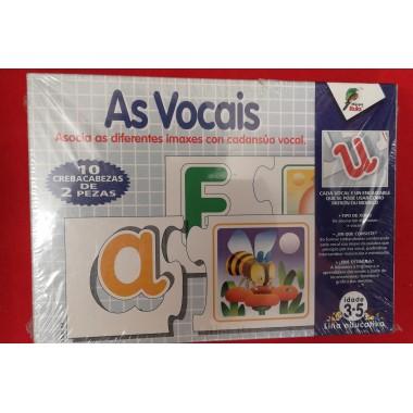 As Vocais - Crebacabezas de 3-5 anos (G)