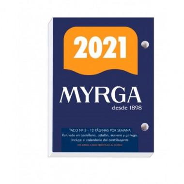 BLOQUE Nº3 AÑO 2021 8,3X11CM 640 PAGINAS MYRGA