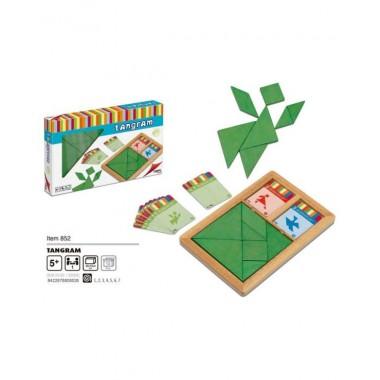 Juego TANGRAM de madera infantil / Xogo TANGRAM madeira infantil