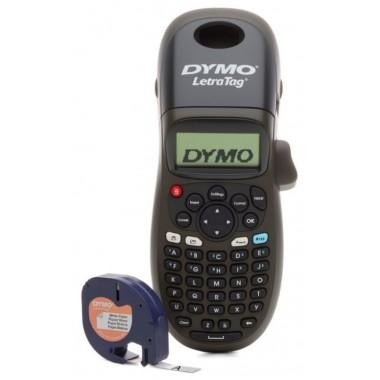 Rotuladora portátil Dymo LetraTag 100 H. Negra + cartucho