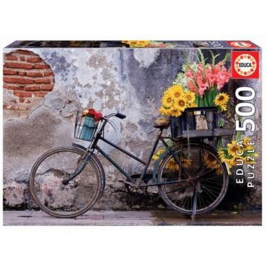 Puzzle bicicleta con flores 500 piezas /Puzle bicicleta con flores 500 pezas