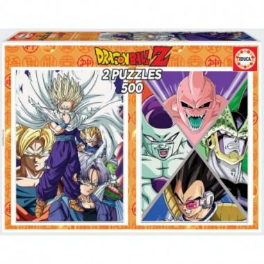 Puzzle Educa Dragon Ball Z 2x 500 piezas / Puzle Educa Dragon Ball Z 2 x 500 pezas