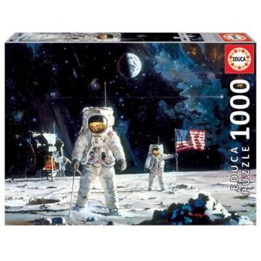 Puzzle 1000 piezas Primer Hombre en la Luna / Puzle 1000 pezas Primeiro Home na Lúa