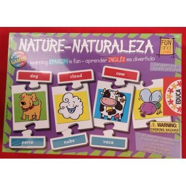 Juego Educa Bilingüe Nature - Naturaleza / Xogo Educa Bilingüe Nature - Naturaleza