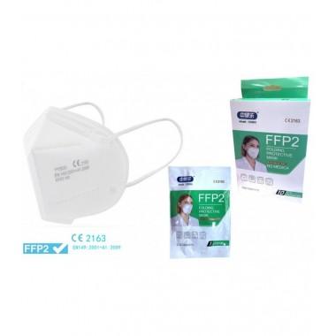 Caja de 10 mascarillas FFP2 NR  CE 2163 / Caixa de 10 máscaras FFP2 NR CE 2163