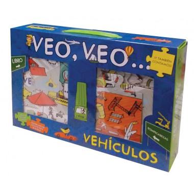 VEO, VEO...Vehículos (caja). Lee y Diviértete. Parragón