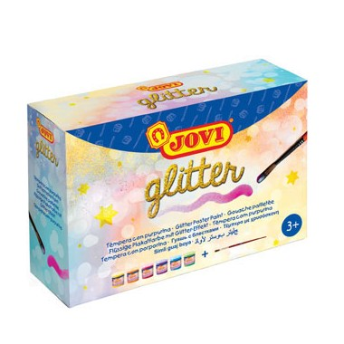 Caja 6 unidades Témpera JOVI Glitter / Caixa 6 unidades Témpera JOVI Glitter