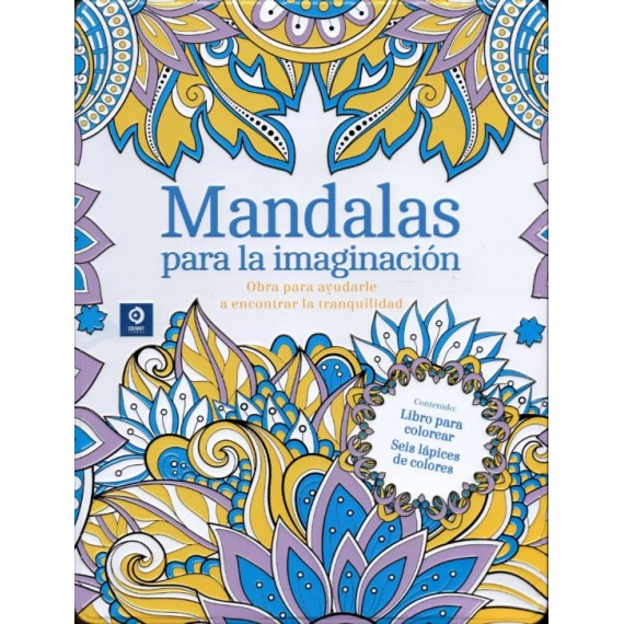 Mandalas para la Imaginación ( caja metálica + lápices)