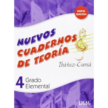 Nuevos Cuadernos de Teoría 4. Grado Elemental. Ibáñez-Cursá. Real Musical.
