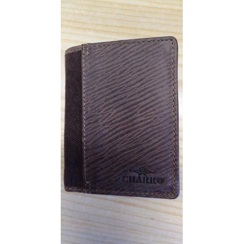 Billetera marrón hombre  piel CHARRO s/cierre y s/monedero