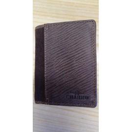 Billetera marrón piel CHARRO s/cierre y s/monedero / Carteira marrón pel CHARRO s/peche e s/monedero