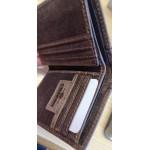 Billetera marrón hombre  piel CHARRO s/cierre y s/monedero / Carteira marrón home pel CHARRO s/peche e s/monedero