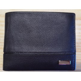 Billetera americana chocolate sin cierre y sin monedero / Carteira americana chocolate sen peche e sen monedero