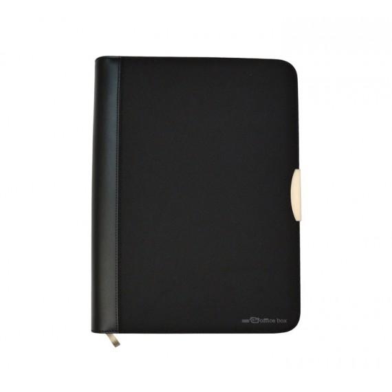 Portafolio A4 con peche cremalleira negro / Portafolio A4 con cierre cremallera negro