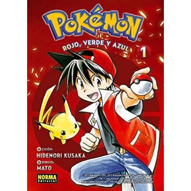 Pokémon rojo, verde y azul (1). Hidenori Kusaka. Norma Editorial. Comic Manga