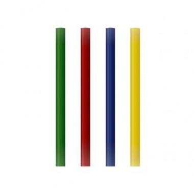 Pack 12 barras de silicona de colores.