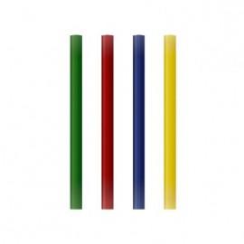 Pack 12 barras de silicona de colores surtidos de 7,5 mm x 10 cm