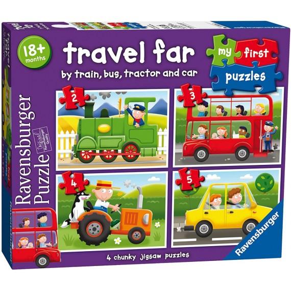 Mi primer puzzle progresivo medios de transporte. Ravensburger.