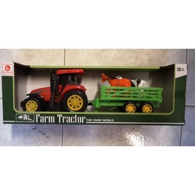 Tractor con Remolque y animales.