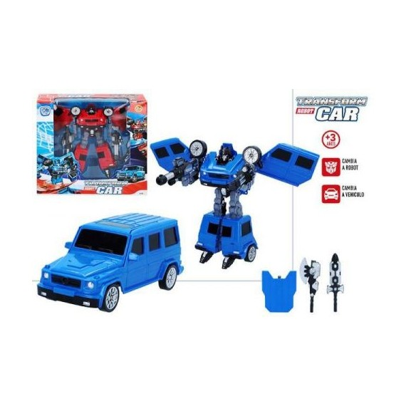 Robot transformable Robot Car CB Toys Azul