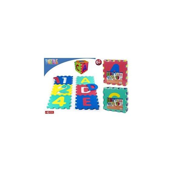 Alfombra goma eva 6 piezas Letras / Números