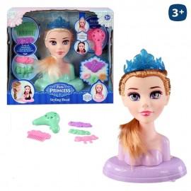Cabeza Maniquí con accesorios Pretty Princess 16x22 cm.