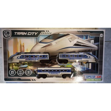 Caja Tren Alta velocidad con pista.