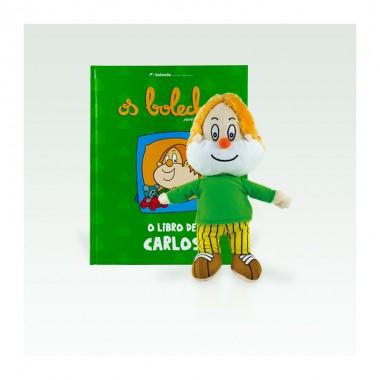 Libro + peluche de Carlos (G) - Os Bolechas